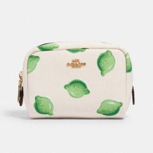 COACH Mini Boxy Cosmetic Case in Lime Print